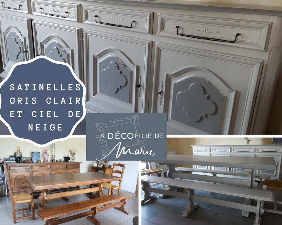 Relooking de meubles anciens buffet et table